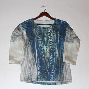 0e32faa597 Chico's Tops - Chicos Peacock feather rhinestone blouse 1 8/10
